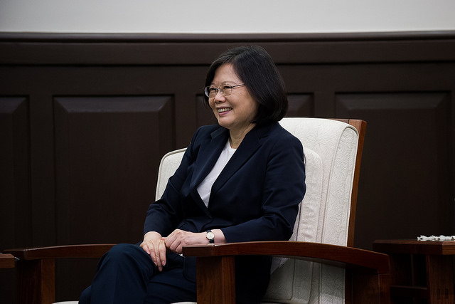 President Tsai meets with Taiwan's delegation to the APEC Business Advisory Council.