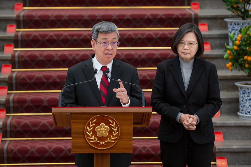 Vice President Chen responds to questions from the media.