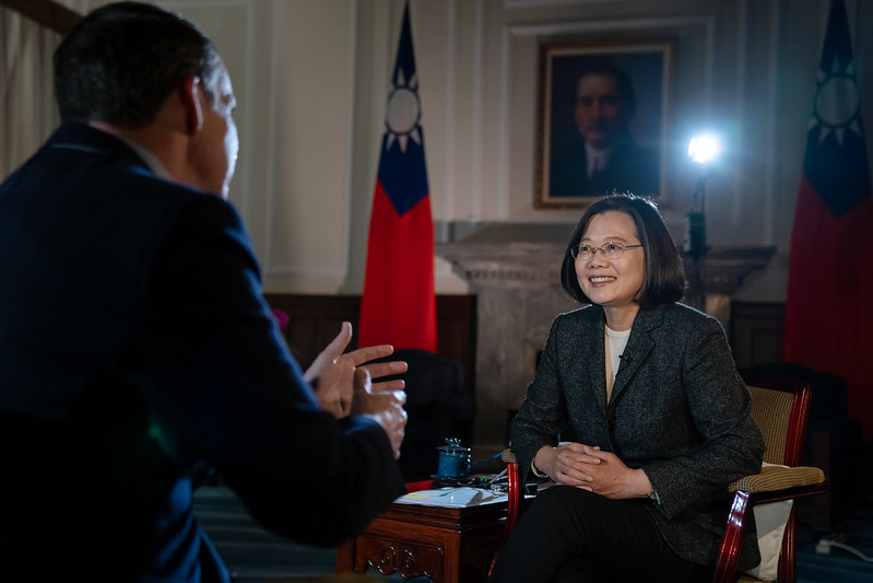 President Tsai is interviewed by the British Broadcasting Corporation.