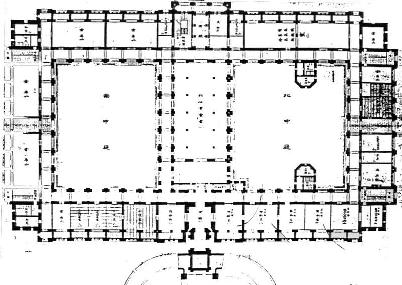 A ground plan for the Office of the Governor-General designed by Uheiji Nagano (courtesy of the office of Huang Chun-ming)
