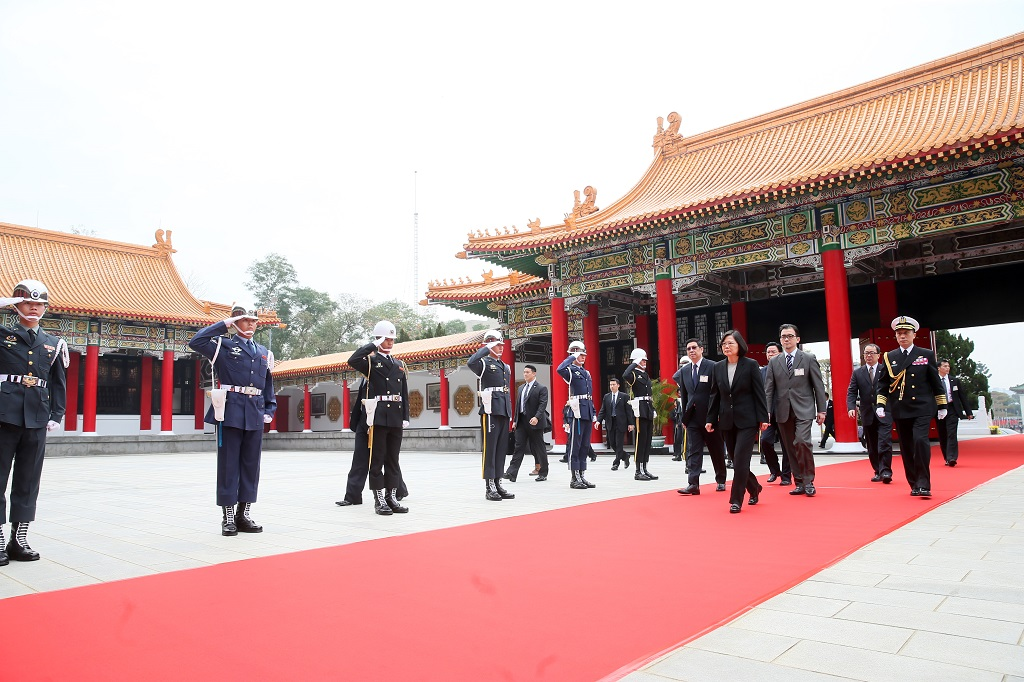 The President is escorted to the Sanctuary by the Secretary-General to the President and other officials to conduct the ceremony.